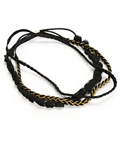 Trillium Multipack Black & Gold Braided Headbands