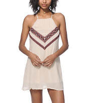 Trillium Phoebe Tribal Embroidered Dress