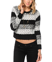 Trillium Popcorn Stripe Crew Neck Sweater