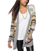 Trillium Stripe Tribal Cardigan Sweater