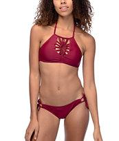 Trillium Sweet Pea Burgundy Cheeky Bikini Bottom