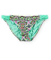 Trillium Tiki Tribal Macrame Tab Side Bikini Bottom