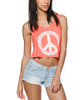 Trillium Tribal Peace Crop Tank Top