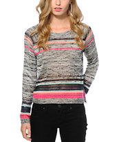 Trillium Trish Spacedye Crew Neck Sweater