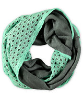 Trillium Two Tone Double Layer Mint Infinity Scarf