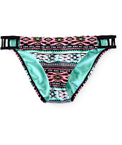 Trillium Woven Geo Print Side Strap Bikini Bottom