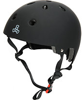 Triple Eight CPSC casco de skate de gaucho negro