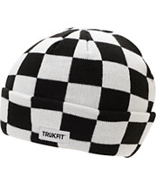 Trukfit Black & White Checker Fold Beanie