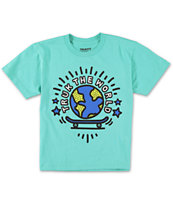 Trukfit Boys Da World Turquoise Tee Shirt