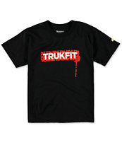 Trukfit Boys Drip Dots Black Tee Shirt