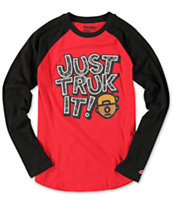 Trukfit Boys Just Truk It Baseball Tee Shirt