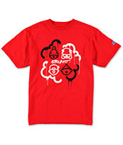 Trukfit Boys Luvin Da Crew Red Tee Shirt