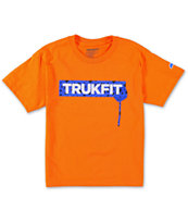 Trukfit Boys Star Drip Orange Tee Shirt