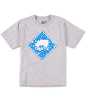 Trukfit Boys Stop Dot Grey Tee Shirt