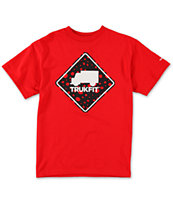 Trukfit Boys Stop Dot Red Tee Shirt