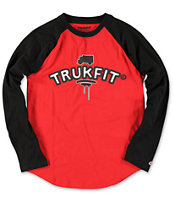 Trukfit Boys TRKFT Red & Black Baseball Tee Shirt