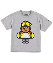 Trukfit Boys Tommy Solid Grey Tee Shirt