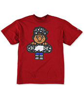 Trukfit Boys Tommy Star Fill Dark Red Tee Shirt