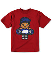 Trukfit Boys Tommy Swirl Dark Red Tee Shirt