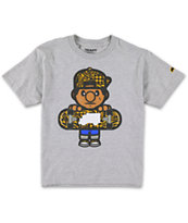 Trukfit Boys Tommy Swirl Grey Tee Shirt