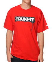 Trukfit Checker Drip Black & Red Tee Shirt