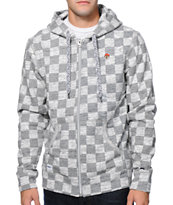 Trukfit Checker Full Zip Hoody Gun
