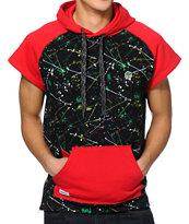 Trukfit D Splatter Black Short Sleeve Pullover Hoodie