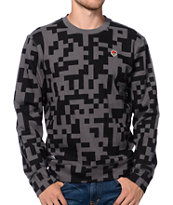 Trukfit Digital Black & Charcoal Crew Neck Sweatshirt