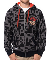 Trukfit Digital Black & Charcoal Full Zip Hoodie