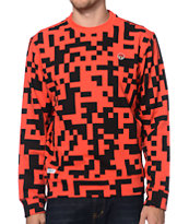 Trukfit Digital Red Crew Neck Sweatshirt