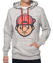 Trukfit Digital Tommy Pop Grey Slub Pullover Hoodie