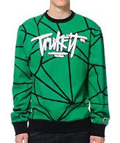 Trukfit Geo Shatter Green Crew Neck Sweatshirt
