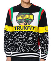Trukfit Leon Black, Red and Yellow Crewneck Tee Shirt