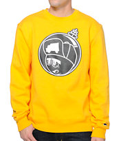 Trukfit Martian Yellow Crew Neck Sweatshirt