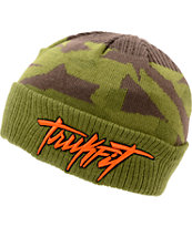Trukfit TF 3D Embroidered Green Beanie