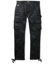 Trukfit Tonal Fly Trap Black Regular Fit Pants