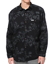 Trukfit Tonal Flytrap Black Long Sleeve Button Up Shirt