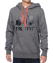 Trukfit Truck Logo Pop Dark Heather Grey Pullover Hoodie