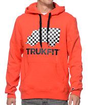 Trukfit Truck Logo Pop Red Pullover Hoodie