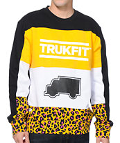 Trukfit Truk Cheetah Black Crew Neck Sweatshirt