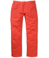 Trukfit Twill Trouser Red Chino Regular Fit Pants