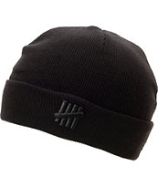Undefeated 5 Strike Combat Black Fold Beanie