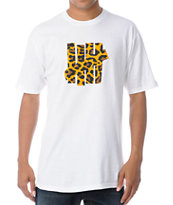 Undefeated 5 Strike Leopard White Tee Shirt