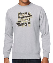 Undefeated 5 Strike Tiger Camo Heather Grey Crew Neck Sweatshirt