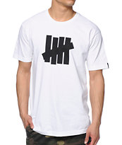 Undefeated 5 Strike White Tee Shirt