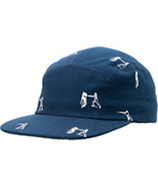 Undefeated Action Camp Navy 5 Panel Hat