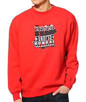 Undefeated Ascender 5 Strike Red Crew Neck Sweatshirt