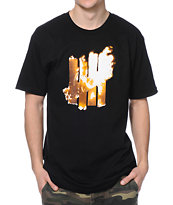 Undefeated Blaze Strike Black Tee Shirt