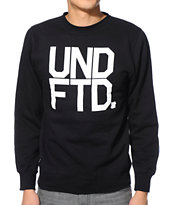 Undefeated Block Black Crew Neck Sweatshirt