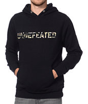 Undefeated Camo Black Pullover Hoodie